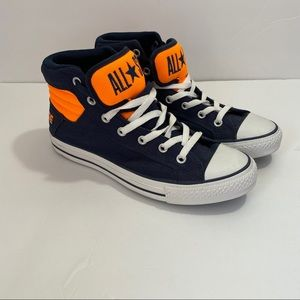 Converse High Tops Orange and Blue Unisex
